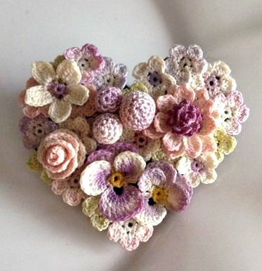 3-D Flowered HeartA