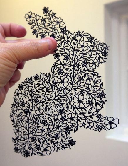 Bunny papercut
