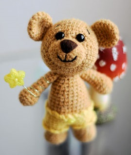 teddy with star