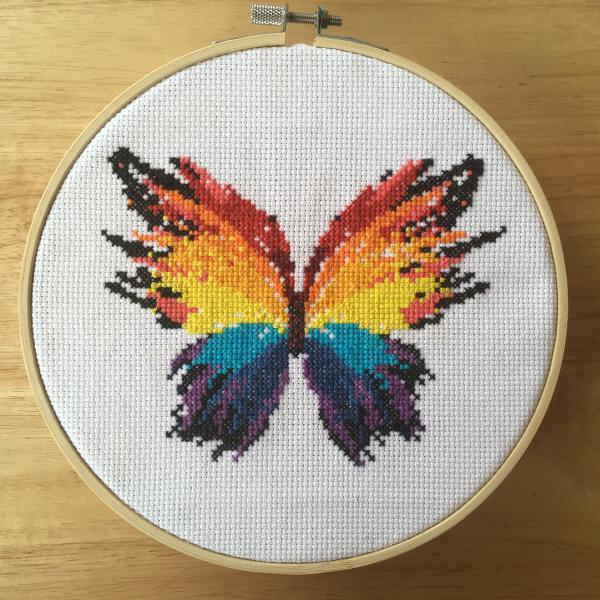 Butterfly, cross stitch
